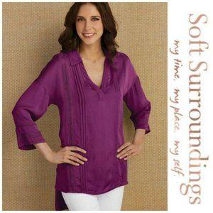 Soft Surroundings | Capistrano Tunic Top Sz Large